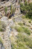 picture of jabal  - Image of hiking path Saiq Plateau in Oman - JPG