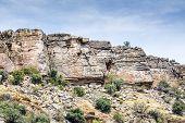 stock photo of jabal  - Image of rocks on Saiq Plateau in Oman - JPG