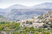 picture of jabal  - Image of village and mountains on Saiq Plateau in Oman - JPG