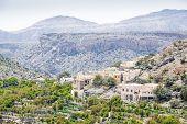 image of jabal  - Image of village and mountains on Saiq Plateau in Oman - JPG