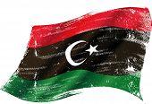foto of libya  - Libyan grunge flag - JPG