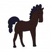 image of stallion  - cartoon black stallion - JPG
