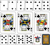 picture of clown face  - Playing cards - JPG