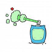 foto of spray can  - retro comic book style cartoon aerosol spray can - JPG