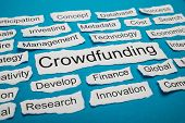 picture of word charity  - Word Crowdfunding Rate On Piece Of Paper Salient Among Other Related Keywords - JPG