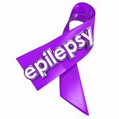 foto of neurology  - Epilepsy ribbon to raise awareness of the neurological condition or disorder causing seizures - JPG