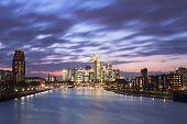 picture of frankfurt am main  - Frankfurt am Main city skyline night view - JPG