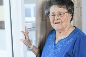 pic of grandmother  - A lonely 90 years old grandmother in is apartment - JPG