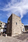 foto of dom  - The Medieval Tower of the Dom Pedro Pitoes Street in the city of Porto - JPG