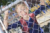 image of playground school  - A smiling little girl at school playground - JPG