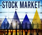 stock photo of stock market data  - Stock Market Economy Finance Forex Money Concept - JPG