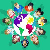 picture of environmental conservation  - Global Globalization World Map Environmental Conservation Concept - JPG