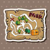 image of treasure map  - Treasure Map Theme Elements - JPG
