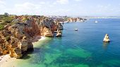picture of lagos  - Aerial from natural rocks near Lagos in Portugal - JPG