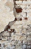 stock photo of collapse  - a building wall which started collapsing gradually - JPG