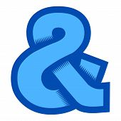 foto of ampersand  - A vector illustration of an ampersand icon - JPG