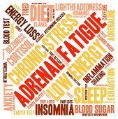 pic of neurotransmitter  - Adrenal fatigue word cloud on a white background - JPG