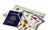 foto of social-security  - Passport fingerprint card driver - JPG