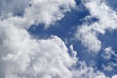 stock photo of windy  - Blue sky with sunlight clouds at windy day - JPG