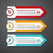 image of step-up  - Infographic design clean arrow number options banner - JPG