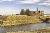 stock photo of hamlet  - Kronborg castle made famous by William Shakespeare in his play about Hamlet situated in the Danish harbour town of Helsingor - JPG