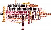 image of benchmarking  - Benchmarking word cloud concept - JPG