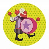 foto of circus clown  - Circus Theme Clown Elements - JPG
