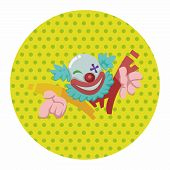 stock photo of circus clown  - Circus Theme Clown Elements - JPG