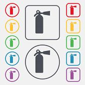 foto of fire extinguishers  - fire extinguisher icon sign - JPG