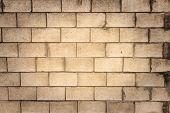 picture of cinder block  - A blank grungy cinder block wall perfect for background and messages - JPG