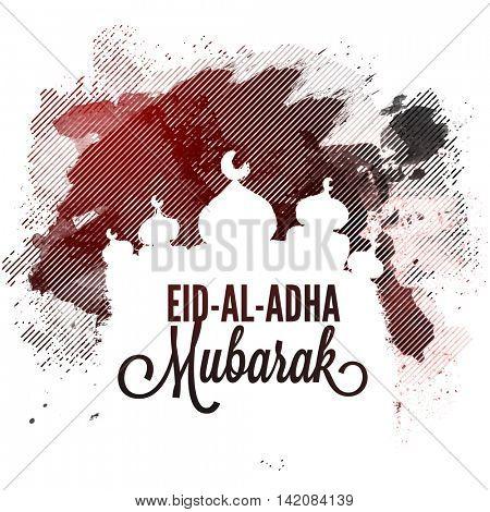 Creative Mosque on abstract background for Muslim Community, Festival of Sacrifice, Eid-Al-Adha Muba