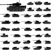 picture of panzer  - Layered vector illustration of German Tanks which be used in World War II - JPG