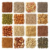 picture of ground nut  - Oil seeds and nuts collection close up - JPG