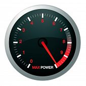 picture of speedo  - Speedo or speed dial for car or power - JPG