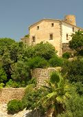 picture of old spanish trail  - Historical cottage on the spanish island Mallorca - JPG