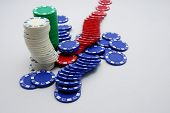 Постер, плакат: Фишки для покера