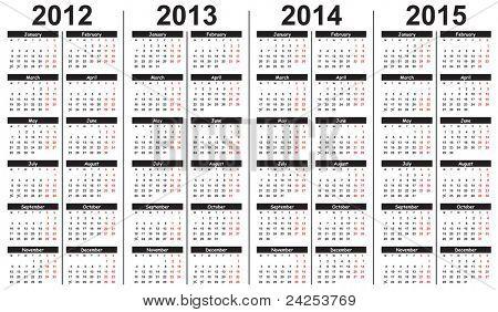 3 YEAR CALENDAR 2012 2015.  Favorite calendars list u calendars!25Nowfall semester 2012 yearly...