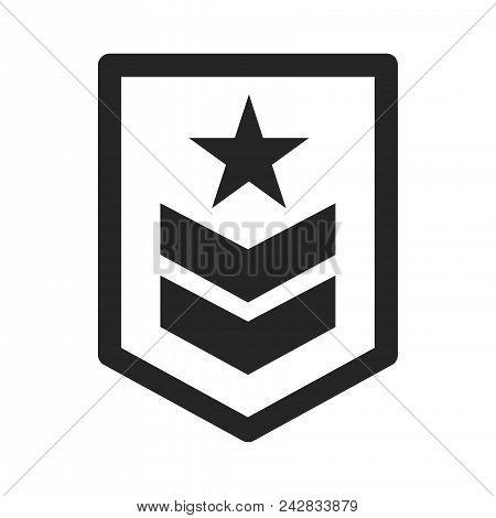 Military Rank Icon Simple Vector