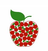 Vector Illustration Of A Creative  Apple