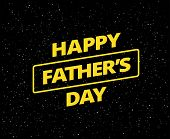Happy Fathers Day Card Vector Space Background poster