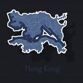 Stickers In Form Of Hongkong Logo Icon poster