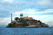 Alcatraz island in san Francisco bay in United States poster