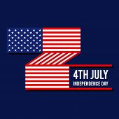Forth Of July, United States Of America Independence Day. Design Element Template Can Be Used For Po poster
