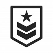Military Rank Icon Simple Vector Sign And Modern Symbol. Military Rank Vector Icon Illustration, Edi poster