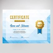 Gift Certificate, Diploma, Template Background, Modern Geometric Design poster