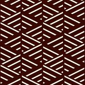 Brown Diagonal Lines On White Background. Seamless Surface Pattern Design With Linear Ornament. Slan poster