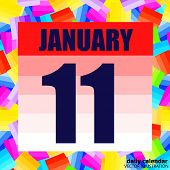 January 11 Icon. For Planning Important Day. Banner For Holidays And Special Days. January 11. Vecto poster