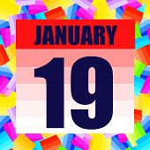 January 19 Icon. For Planning Important Day. Banner For Holidays And Special Days. Nineteenth Of Jan poster