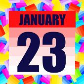 January 23 Icon. For Planning Important Day. Banner For Holidays And Special Days. January Twenty Th poster