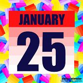 January 25 Icon. For Planning Important Day. Banner For Holidays And Special Days. January 25th. Vec poster